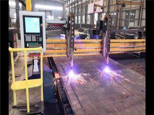 Կրկնակի drive Gantry CNC պլազմային կտրող մեքենա H ճառագայթների արտադրության գծի Hypertherm CNC համակարգ