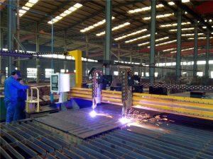 Gantry ափսե CNC պլազմային փեղկավոր 45 աստիճանի կտրող մեքենա