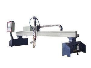 բարձր արդյունավետության gantry cnc պլազմային կտրող մեքենա / CNC բոց կտրող մեքենա
