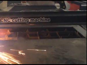 առևտրի ապահովում էժան գնի դյուրակիր կտրիչ CNC պլազմային կտրող մեքենա չժանգոտվող պողպատե մաթելային իրոյի համար